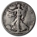1936-D Walking Liberty Half Dollar VG/VF