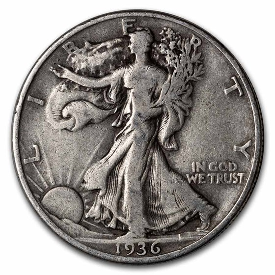 1936-D Walking Liberty Half Dollar VG/VF