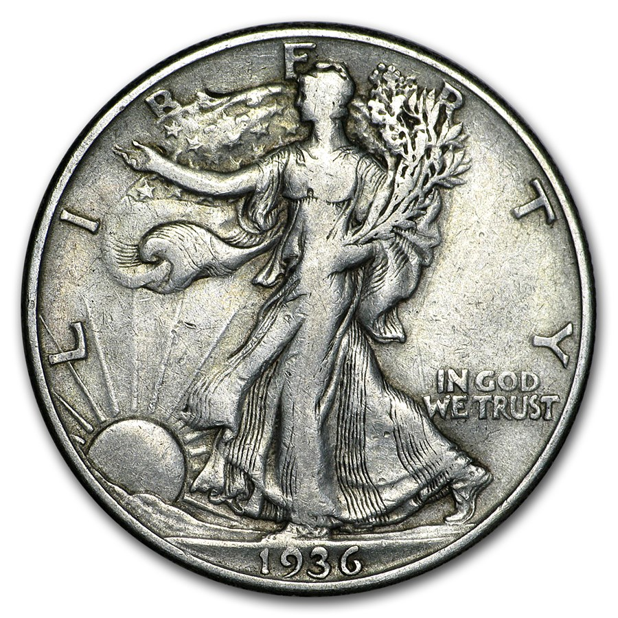 1936-D Walking Liberty Half Dollar XF