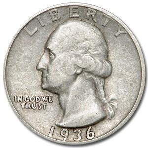 1936-D Washington Quarter XF