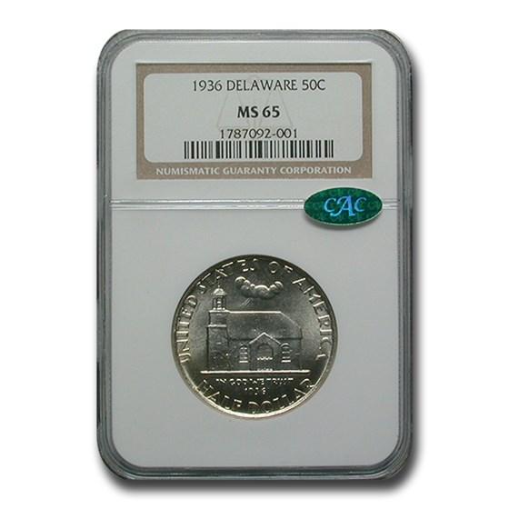 1936 Delaware Half Dollar MS-65 NGC CAC