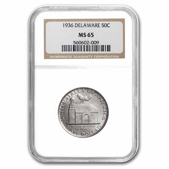 1936 Delaware Half Dollar MS-65 NGC