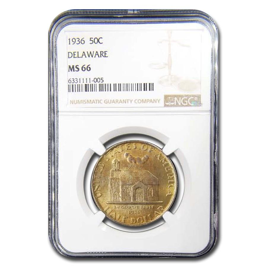 1936 Delaware Half Dollar MS-66 NGC