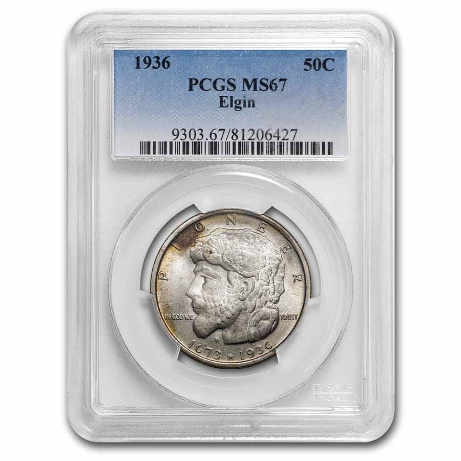 1936 Elgin Half Dollar Commem MS-67 PCGS