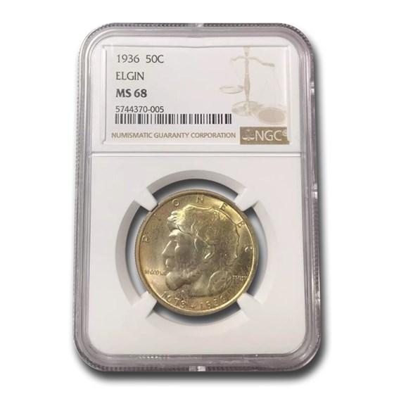 1936 Elgin, Illinois Centennial Half Dollar Commem MS-68 NGC