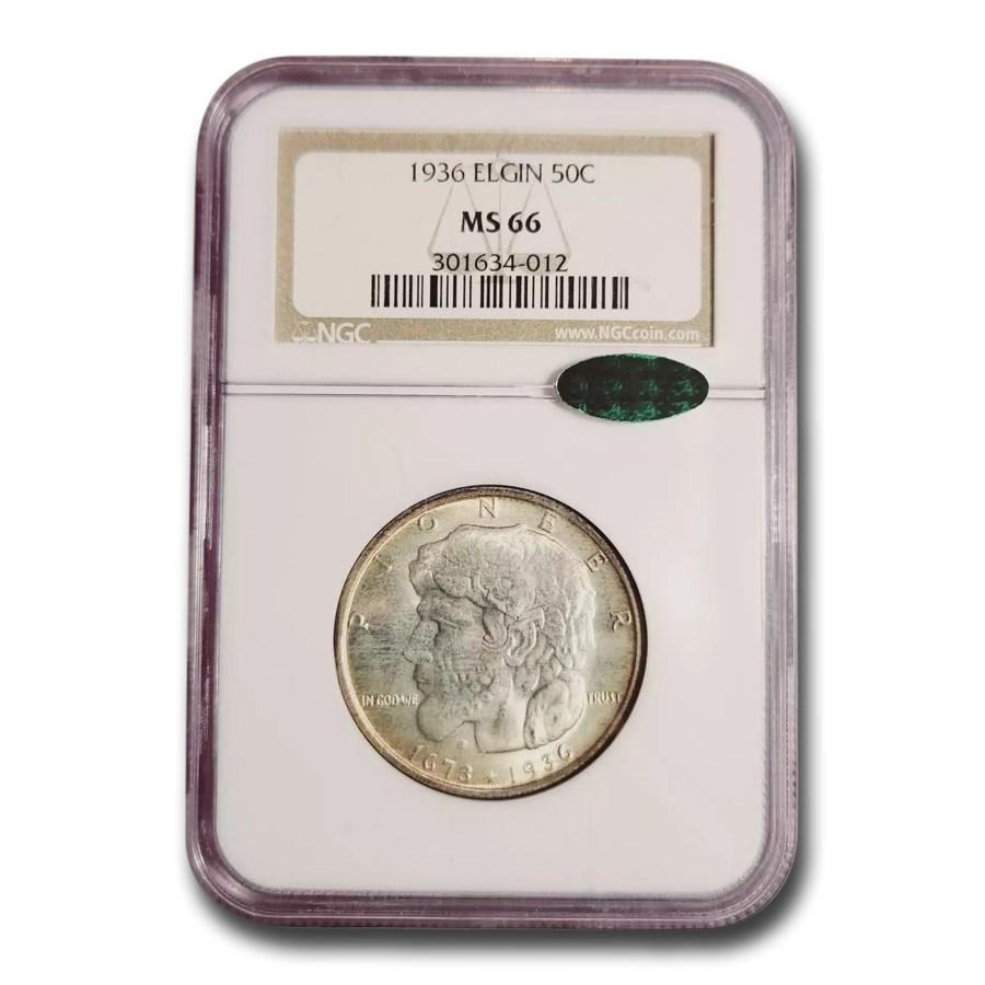 1936 Elgin, Illinois Centennial Half Dollar MS-66 NGC CAC