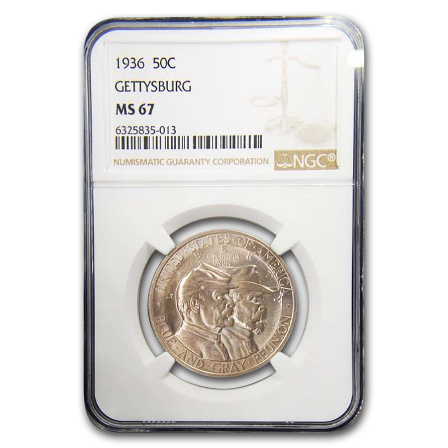 1936 Gettysburg Half Dollar Commem MS-67 NGC
