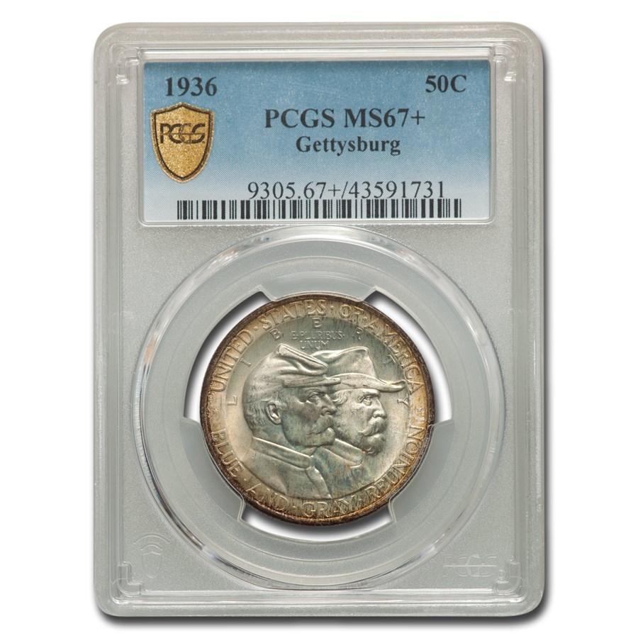 1936 Gettysburg Half Dollar MS-67+ PCGS