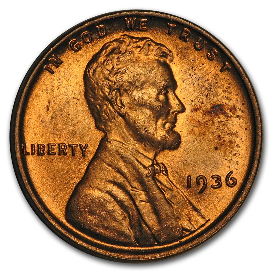 1936 Lincoln Cent BU (Red)