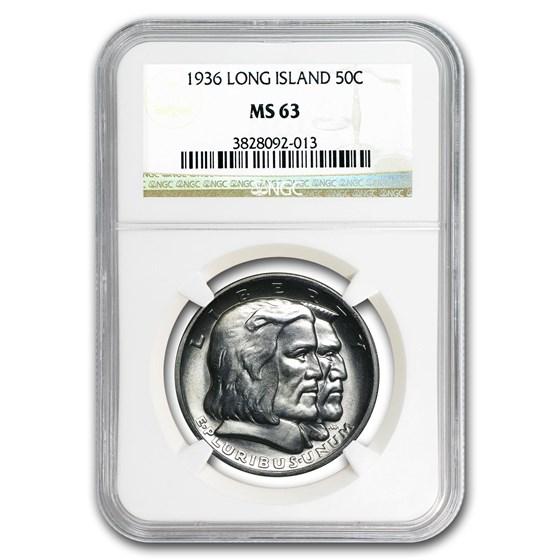 1936 Long Island Tercentenary Half Dollar MS-63 NGC