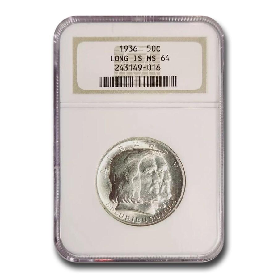 1936 Long Island Tercentenary Half Dollar MS-64 NGC