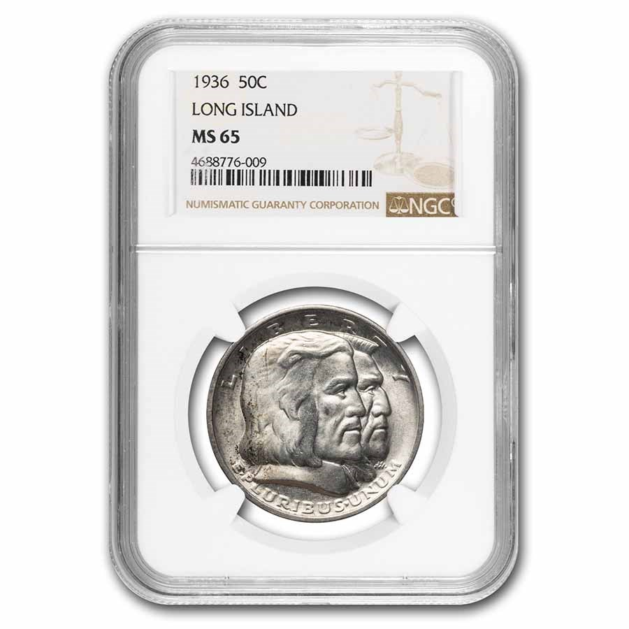 1936 Long Island Tercentenary Half Dollar MS-65 NGC
