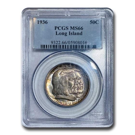 1936 Long Island Tercentenary Half Dollar MS-66 PCGS