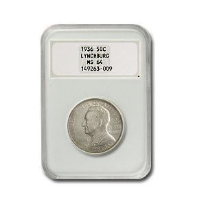 1936 Lynchburg Half Dollar MS-64 NGC (Fat NGC Holder)