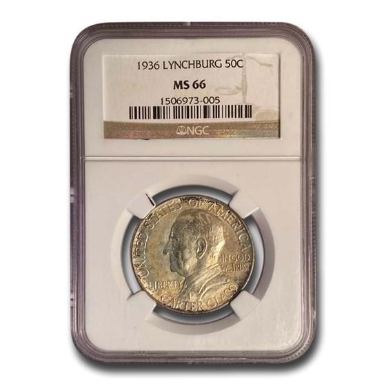 1936 Lynchburg Sesquicentennial Half Dollar MS-66 NGC