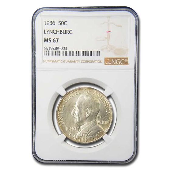 1936 Lynchburg Sesquicentennial Half Dollar MS-67 NGC