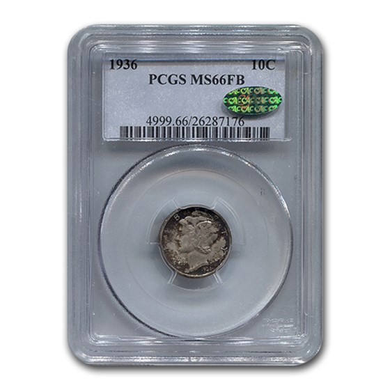 1936 Mercury Dime MS-66 PCGS CAC (FB)