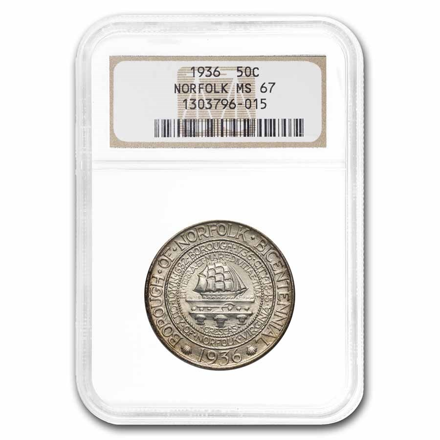 1936 Norfolk, VA Half Dollar Commem MS-67 NGC