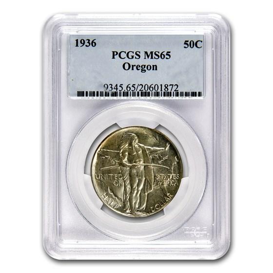 1936 Oregon Trail Memorial Half Dollar Commem MS-65 PCGS