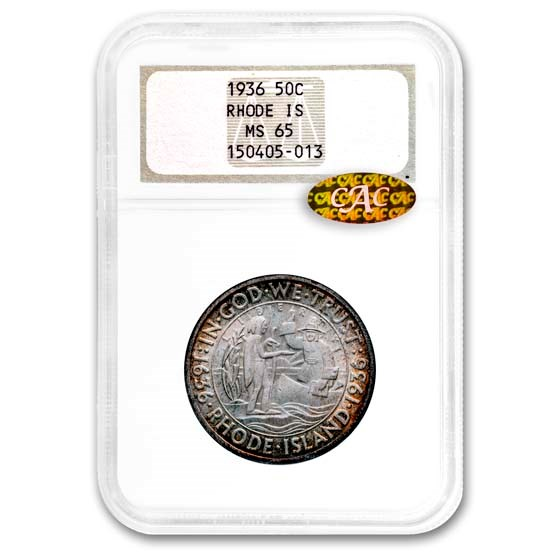 1936 Rhode Island Half Dollar MS-65 NGC CAC
