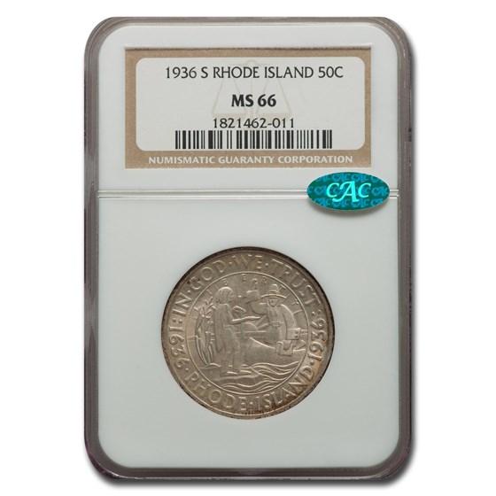 1936 Rhode Island Half Dollar MS-66 NGC CAC