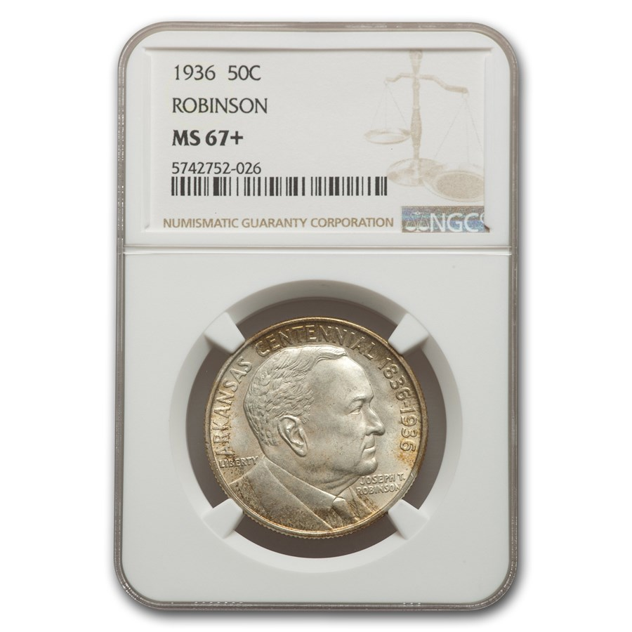 1936 Robinson-Arkansas Half Dollar MS-67+ NGC