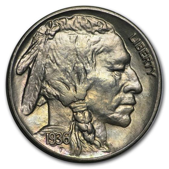 1936-S Buffalo Nickel BU