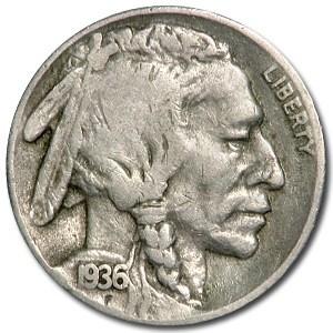 1936-S Buffalo Nickel Good+