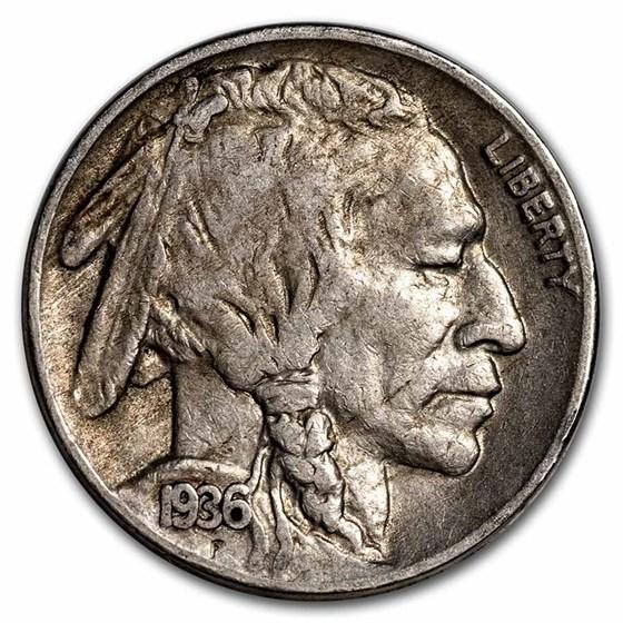 1936-S Buffalo Nickel XF