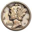 1936-S Mercury Dime Fine/VF