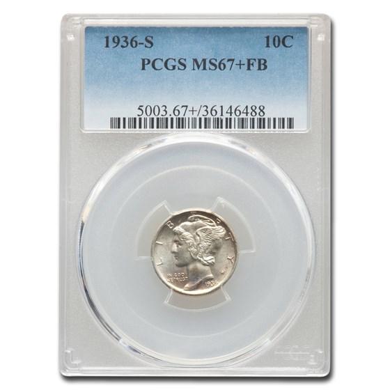 1936-S Mercury Dime MS-67+ PCGS (FB)