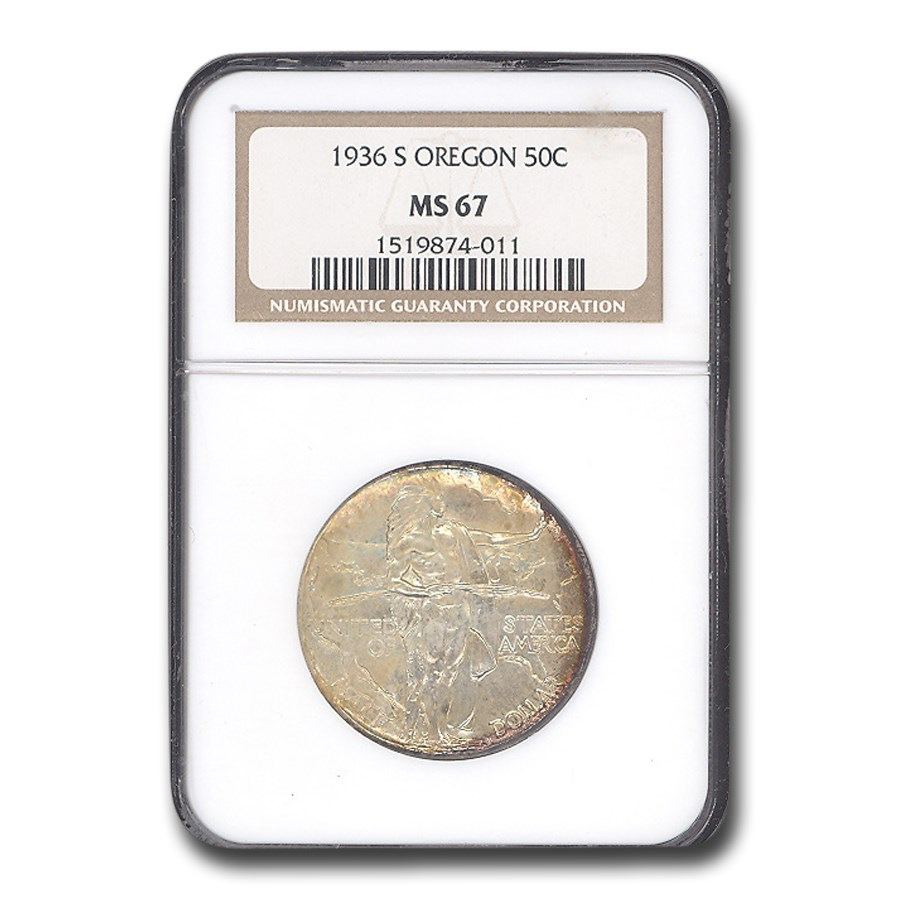1936-S Oregon Trail Commemorative Half Dollar MS-67 NGC
