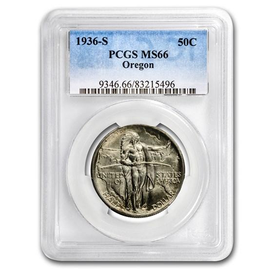 1936-S Oregon Trail Memorial Half Dollar MS-66 PCGS