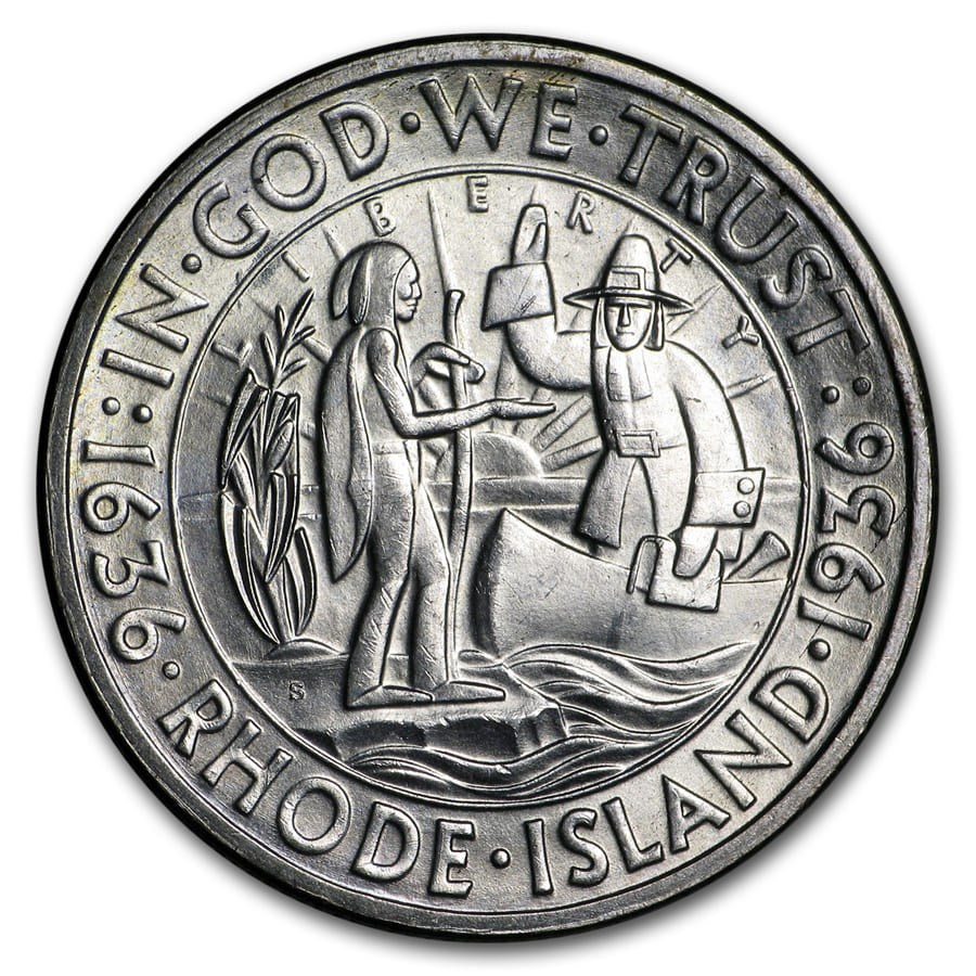 1936-S Rhode Island Half Dollar BU