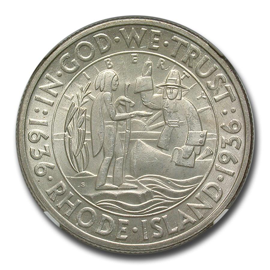1936-S Rhode Island Half Dollar MS-64 NGC