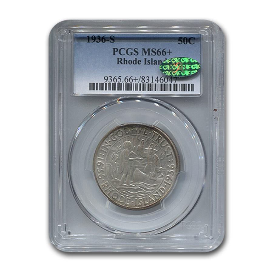 1936-S Rhode Island Half Dollar MS-66+ PCGS CAC