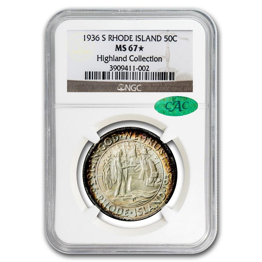 1936-S Rhode Island Half Dollar MS-67 Star NGC