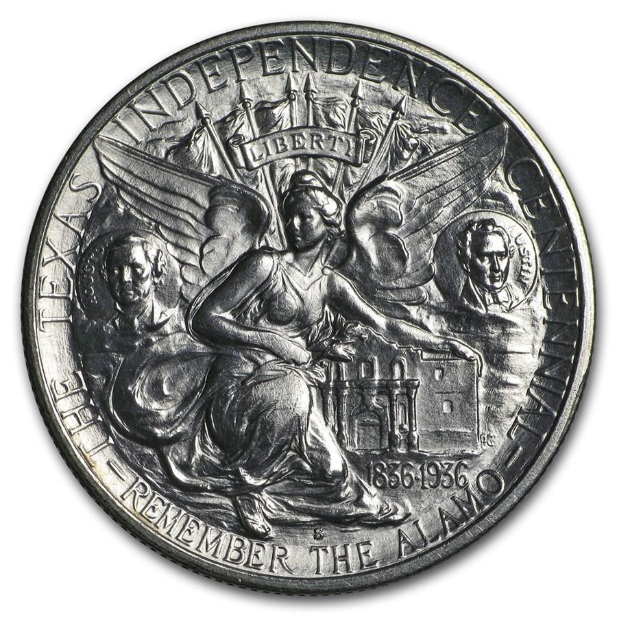 1936-S Texas Independence Centennial Half BU