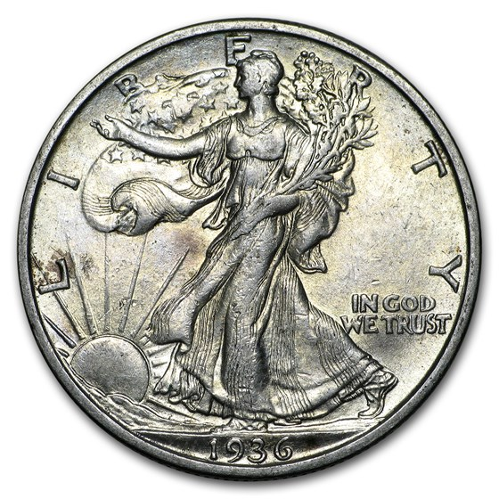 1936-S Walking Liberty Half Dollar AU