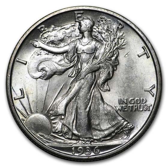 1936-S Walking Liberty Half Dollar BU