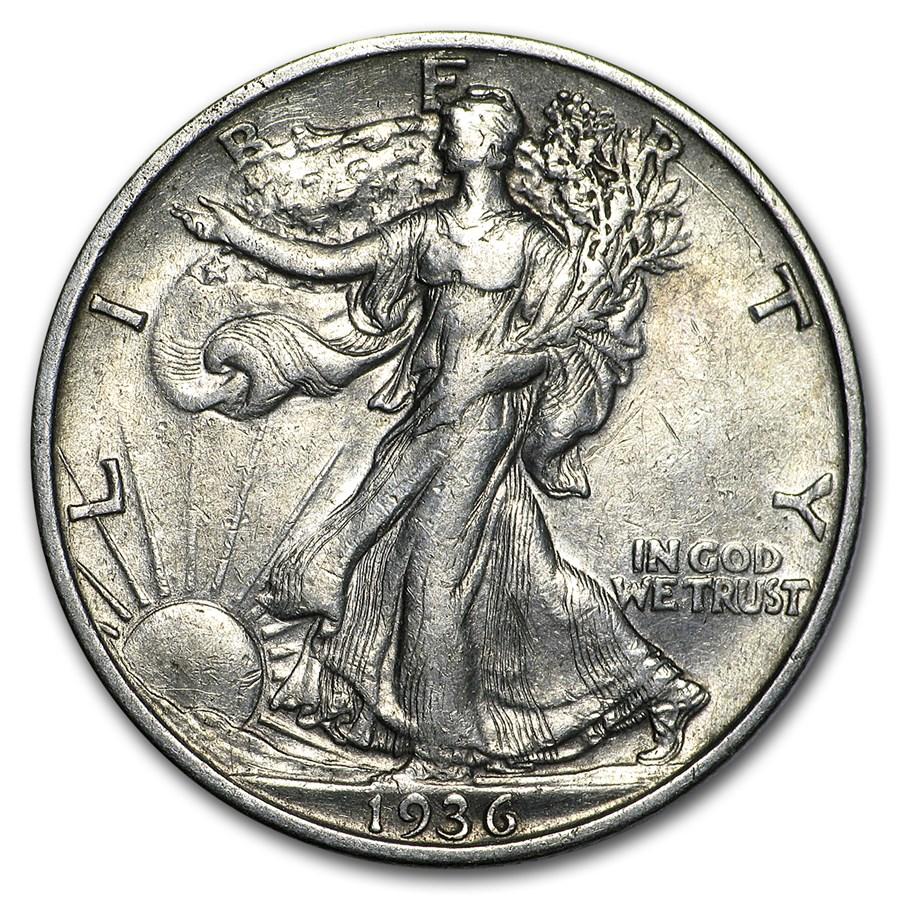 1936-S Walking Liberty Half Dollar XF