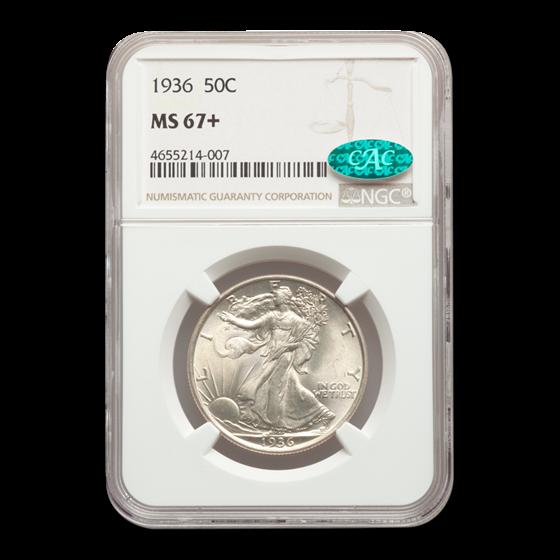 1936 Walking Liberty Half Dollar MS-67+ NGC CAC