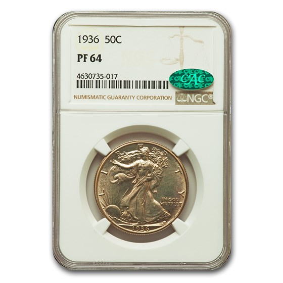 1936 Walking Liberty Half Dollar PF-64 NGC CAC