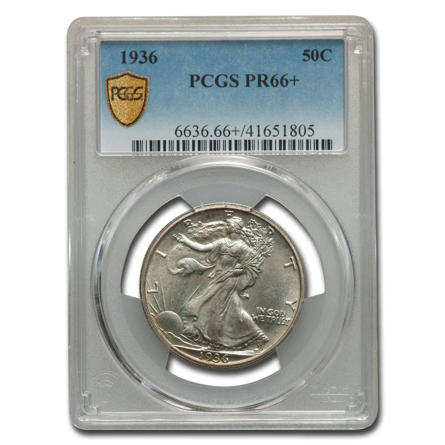 1936 Walking Liberty Half Dollar PR-66+ PCGS