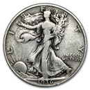 1936 Walking Liberty Half Dollar VG/VF
