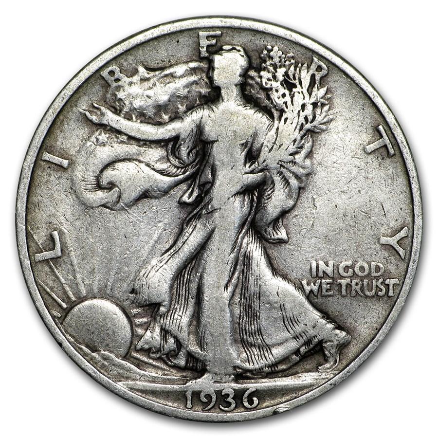 1936 Walking Liberty Half Dollar VG/VF