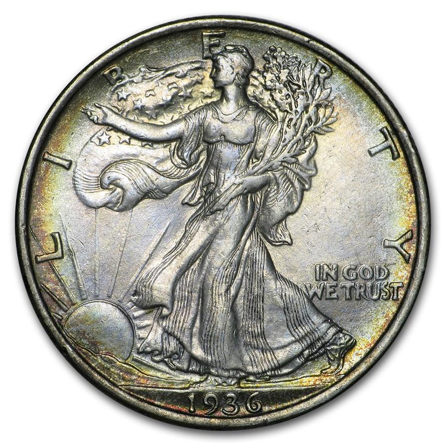 1936 Walking Liberty Half Dollar XF