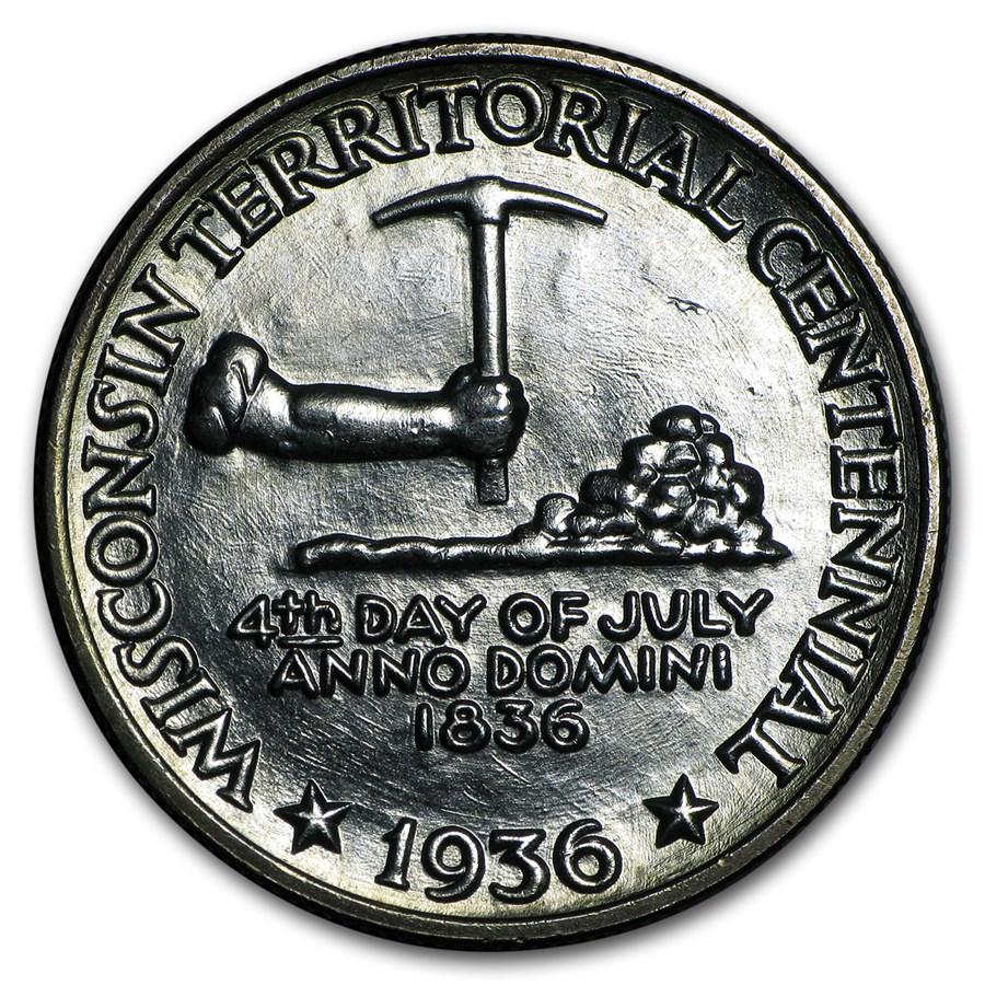 1936 Wisconsin Territorial Centennial Half Dollar BU