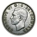 1937-1946 Great Britain Silver Florin George VI Avg Circ