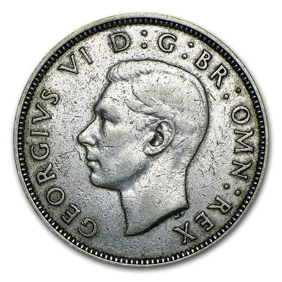 1937-1946 Great Britain Silver Two Shillings George VI Avg Circ